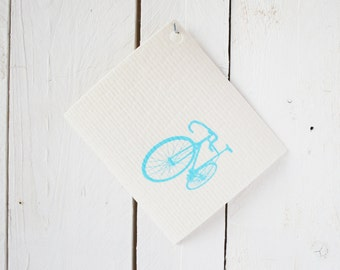 Sponge cloth bike, white blue