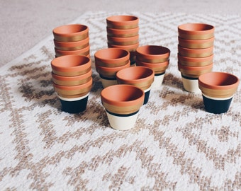 HAND PAINTED POTS // custom, hand painted planters