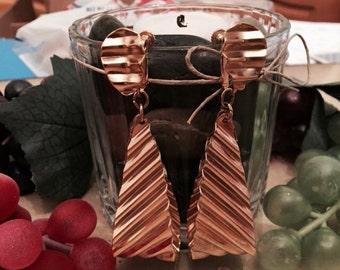 Fabulous large Vintage Napier Dangle Earrings