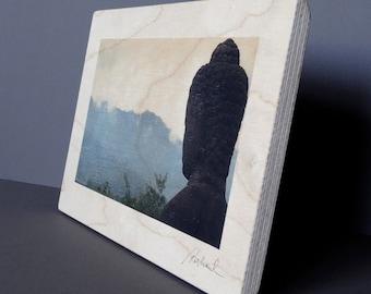 Photo print on wood / Borobudur, Indonesia (A)