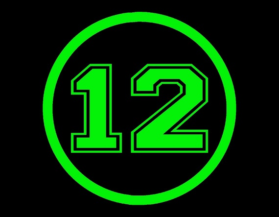 Seahawks 12 12th man round vinyl window decal pick your size for 12 round window