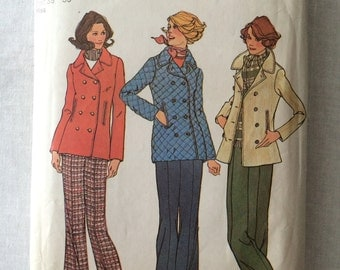 Vintage 1975 UNCUT New Simplicity 7139 Misses Size 14 and 16 Jacket and Pants Pattern