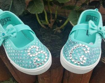 Glam/glitter/and polka dot shoes