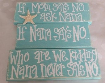 If Mom says no,  ask Nana.  Turquoise with natural starfish.