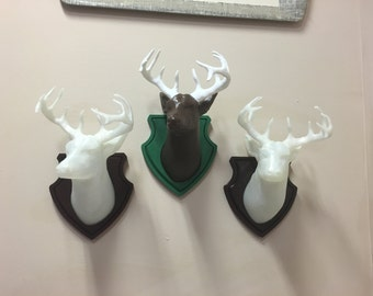 Custom Deer Head Wall Mount, Custom, Mounted Deer Head, Faux Wall Mounted Deer Head, Faux Deer Head, Deer, Deer Head, Antlers, Mounted Deer