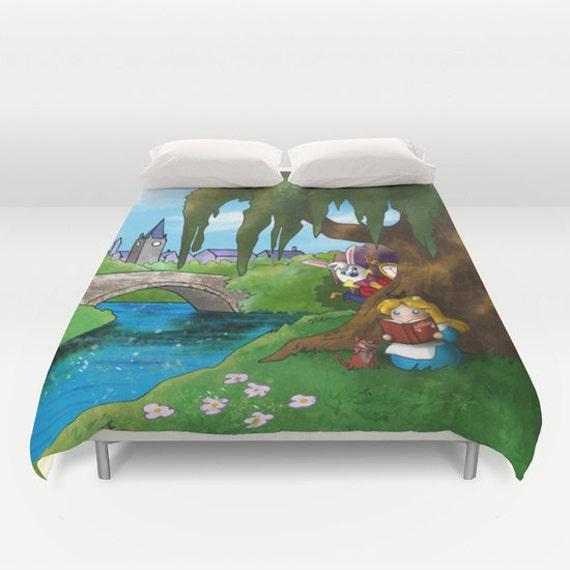 alice au pays des merveilles housse de couette alice au. Black Bedroom Furniture Sets. Home Design Ideas
