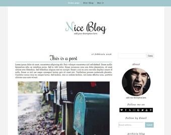 Simple Blogger Template – Nice Blog