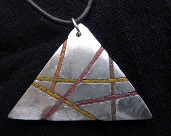 aluminum triangle pendant
