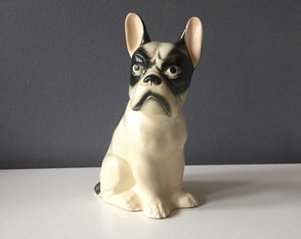 Vintage Grumpy Boston Terrier Dog Figurine