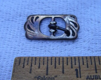 Vintage ART NOUVEAU Style Purse? Strap BUCKLE-Silverplated Brass-As Is