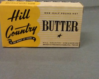 Hill Country Butter Carton Container