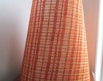 Retro  Lamp Shade ORANGE Vintage Retro 70's Tall Lamp Shade  Retro Lighting Vintage Lamp Shade----Vintage Street Sale