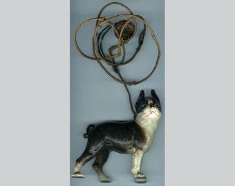 FREE SHIPPING-Antique-1928-Vindex-Bulldog-Cast Iron-Electric-Cigar-Cigarette-Lighter-Original-Working Condition