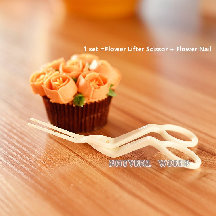 Flower Nail Cake: Flower Lifter Scissor Flower Nail Receptacle Icing
