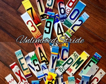 GRAB BOX of license plate letters and numbers, license plate, license plate numbers, license plate letters