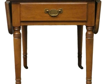 STATTON TruType Solid Cherry Drop Leaf Pembroke End Table 2544