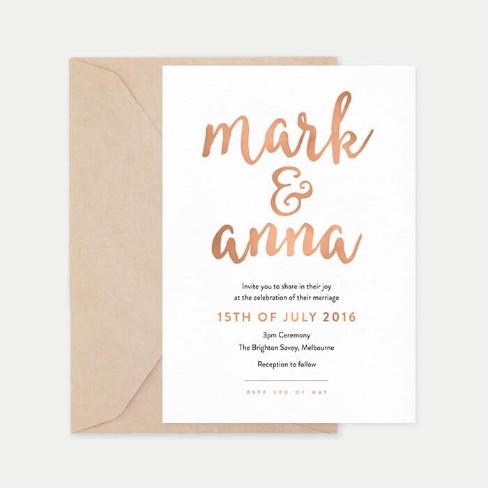 Rose gold wedding invitation printable, Wedding stationery, Printable wedding invites, Pink wedding invitation, Rose gold invitation