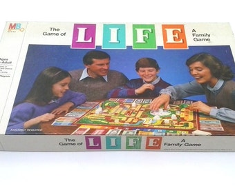 Vintage Milton Bradley 1985 The game of life - Destin 100% COMPLETE- EXCELLENT CONDITION english version with instructions
