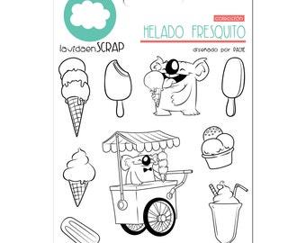 Seals set - cool ice cream