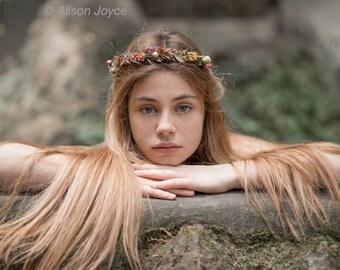Flower halo, flower crown, head wreath,  photo prop, child wreath,