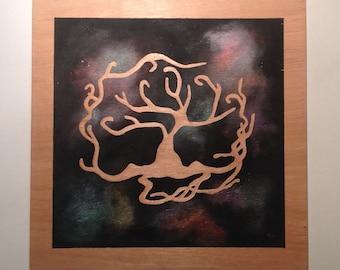 Tree of life Wood Painting