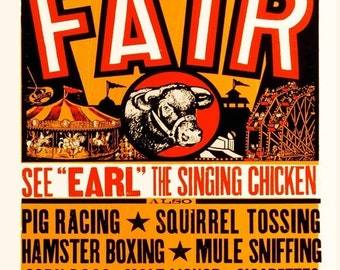 Yee Haw Country Fair,Vintage Style Metal Sign, Business Decor No.488