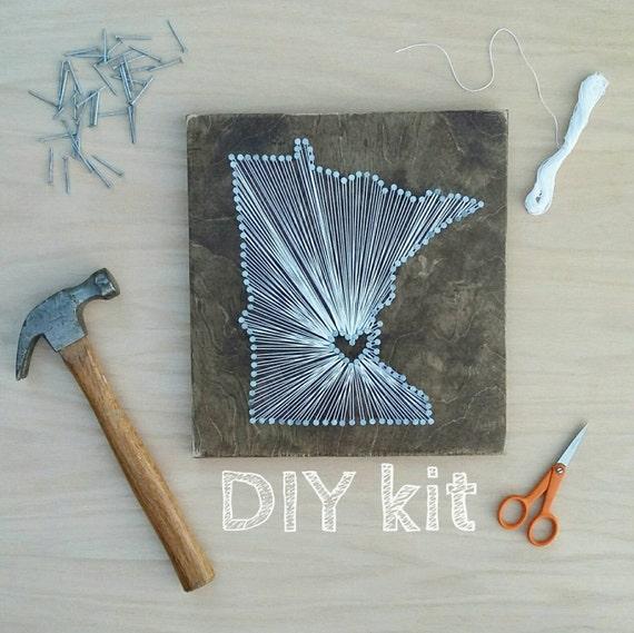 Diy minnesota string art kit state string art kit minnesota like this item prinsesfo Gallery