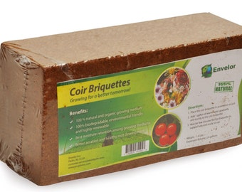 Coir Growing Medium Coco Potting Soil 1.4-lb Block
