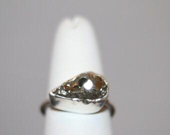 Tear drop pyrite ring Size 5.75