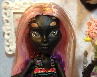 OOAK Custom Monster High MH Wydowna Spider Doll Repaint/Reroot: Rose Tarantula--Outfit Included!