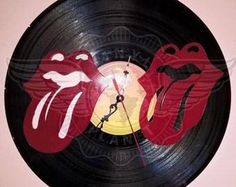 Vinyl wall clock THE ROLLINGSTONES