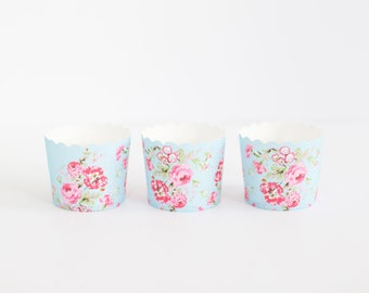 Set of 5 Shabby Chic Muffin Cups