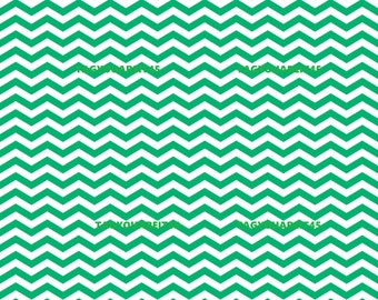 New Pricing and Packaging Emerald Green Chevron on White Cardstock Paper