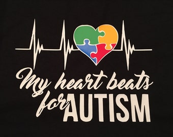 My heart beats for Autism shirt