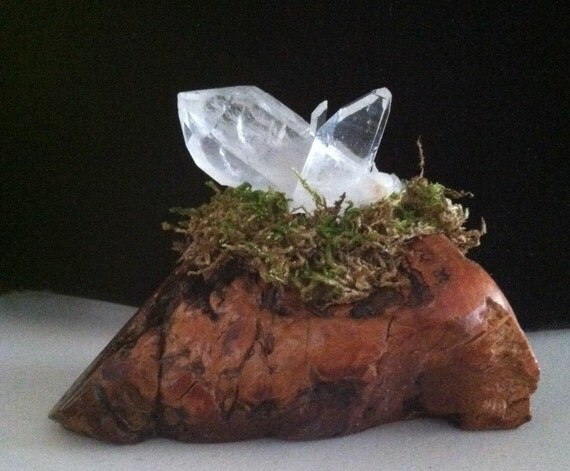 MEDITATION GARDEN, Crystal Cluster Display, Micro Garden, Twin Flame Crystal, Inner Child Crystal, Sedona, Crystal Cluster, Reiki, charged
