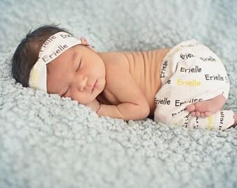 Baby Girl Newborn Personalized Set