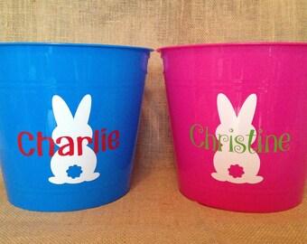 Easter Basket Name Decal Easter Basket Personalized Decal Easter Basket Sticker Easter Bunny Decal Kids Easter Personalized Easter Decal DIY