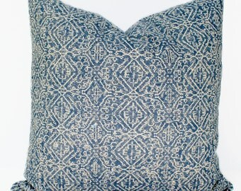 Navy Blue Boho Pillow Cover