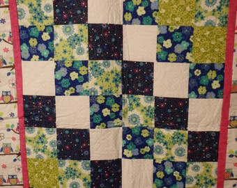 baby quilt, homemade quilt, homemade baby quilt, girl's quilt, gifts for girls