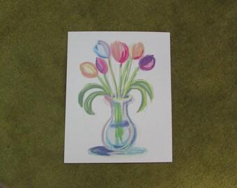 colourful tulip vase