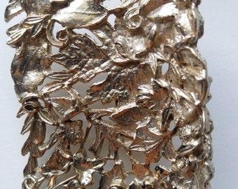 Vintage gold leaf shoe clips