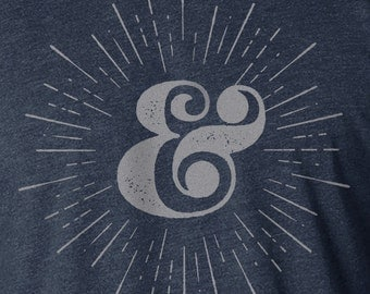 Ampersand Shirt, Ampersand Print, Screen Printed Shirt, Ampersand Typography Shirt, Typography Shirt, Typography Print, Typography Art Shirt