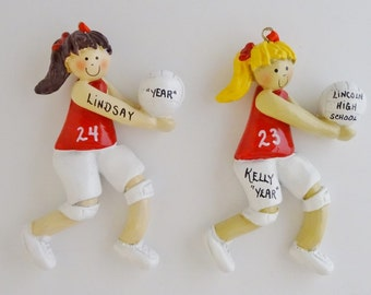 Personalized Volleyball Player Ornament - Volleyball Player Ornament Team Color Uniform