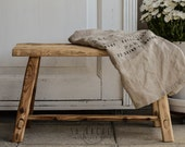 handmade wooden bench,spruce barn wood,entryway dining room,furniture,table,old wood,boho, bohemian,raw,french coffee side table