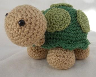 Crochet, Amigurumi Green turtle, tortoise, soft toy
