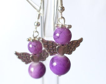 Earrings marble angels (different colors)