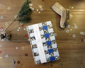 The accomplice - creative - binding braided - blue and grey - Format A5