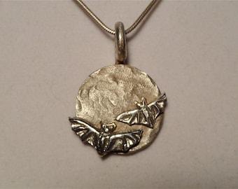 MOON BATS Sterling silver pendant