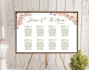 Find your Seat Chart, Printable Wedding Seating Chart, Wedding Seating Poster, Wedding Seating Sign, Wedding Seating Board WD85 WC88