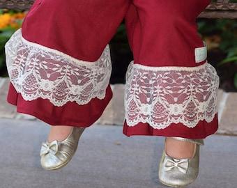 Ruffle Pants//Lacey Ruffle Pants//Fall Ruffle Pants//Toddler Ruffle Pants//Girl Ruffle Pants//Back To School//